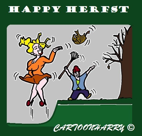 Cartoon: Happy Herfst (medium) by cartoonharry tagged herfst2015