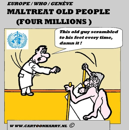 Cartoon: Ill-Treatment Old People in Euro (medium) by cartoonharry ...