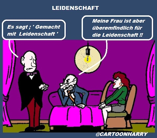 Cartoon: Leidenschaft (medium) by cartoonharry tagged leidenschaft,frau,allergisch