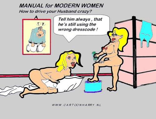 Cartoon: Manual for Modern Women8 (medium) by cartoonharry tagged dresscode,cartoonharry,manual,sexy,girls