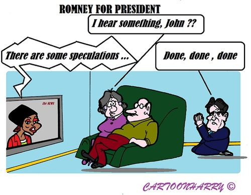 Cartoon: Mitt Romney (medium) by cartoonharry tagged romney,usa,president,speculations