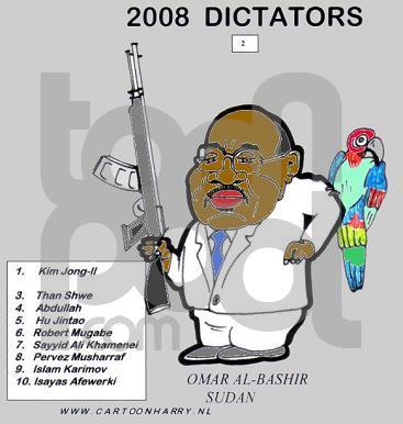 Cartoon: Omar Al-Bashir (large) by cartoonharry tagged albashir,dictator,sudan