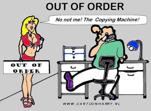 Cartoon: Out of Order (medium) by cartoonharry tagged sexy,cartoon,cartoonharry,girl,outoforder