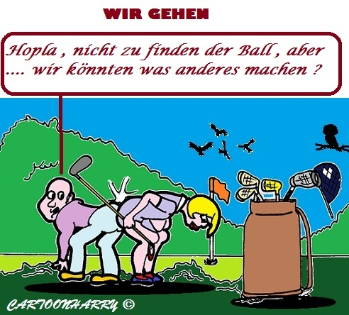 Cartoon: Schnell (medium) by cartoonharry tagged ball,motel,golf,sport