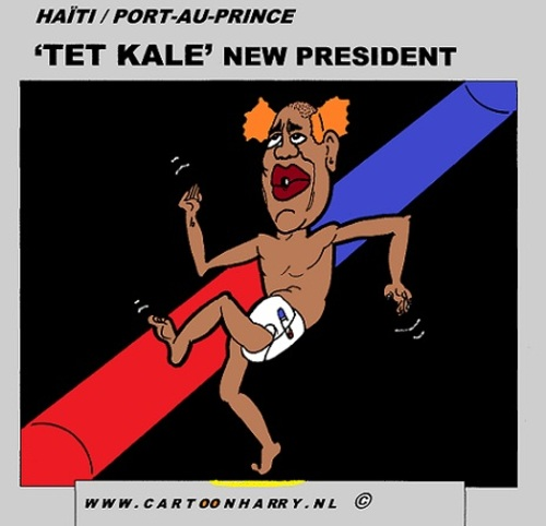 Cartoon: TET KALE (medium) by cartoonharry tagged arts,art,artist,comix,comics,comic,caricature,cartoon,new,president,haiti,kale,tet,drawing,cartoonist,cartoonharry,dutch,toonpool,toonsup,facebook,hyves,linkedin,buurtlink,deviantart
