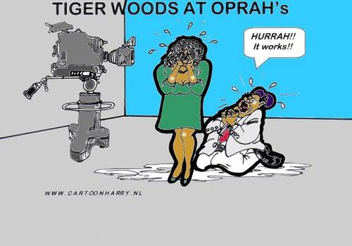 Cartoon: Tiger At Oprahs? (medium) by cartoonharry tagged oprah