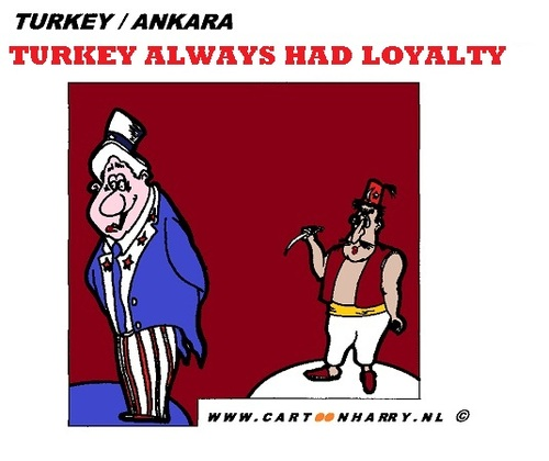 Cartoon: Turkey Always Had Loyalty (medium) by cartoonharry tagged turkey,loyal,loalty,usa,america,cartoon,cartoonist,cartoonharry,dutch,toonpool