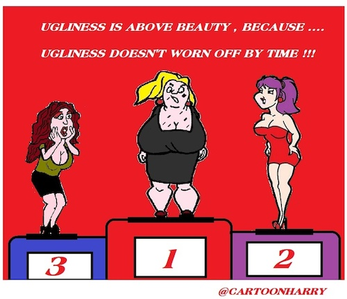 Cartoon: Ugliness (medium) by cartoonharry tagged ugliness,cartoonharry