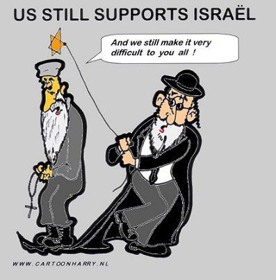 Cartoon: US Still Supports Israel (medium) by cartoonharry tagged nine,eleven,israel,usa,cartoonharry,political,binladen,rabbi