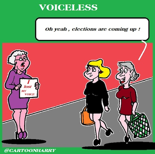 Cartoon: Voiceless (medium) by cartoonharry tagged voiceless,cartoonharry