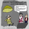 Cartoon: A Mother (small) by cartoonharry tagged karzai,afghanistan,mother,nato,dead,cartoonharry