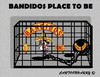 Cartoon: Bandidos (small) by cartoonharry tagged bandidos,criminals,bikers,prison,placetobe,worldwide
