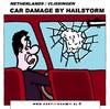 Cartoon: Car Window Damage (small) by cartoonharry tagged car,window,damage,hailstorm,insurance,cartoon,cartoonist,cartoonharry,dutch,toonpool