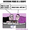 Cartoon: Cesspit Israel (small) by cartoonharry tagged italy,rome,pope,abbas,peres,cesspit,succession,israel,palestina