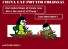 Cartoon: Chinese Potato Eaters (small) by cartoonharry tagged china,beijing,potato,cola,cocacola,cartoons,cartoonists,cartoonharry,dutch,mcdonalds,toonpool