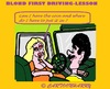 Cartoon: Coin Lesson (small) by cartoonharry tagged drivinglessons,blond,coin