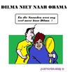Cartoon: Dilma Rousseff (small) by cartoonharry tagged brasil,usa,rousseff,obama,trip,cancellation,haircutter