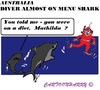 Cartoon: Diver to Sharks (small) by cartoonharry tagged australia,menu,sharks,divers,toonpool