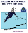 Cartoon: Draghi his Jump (small) by cartoonharry tagged ecb,rome,draghi,president,money,economy,europ,cartoons,cartoonists,cartoonharry,dutch,darkness,toonpool