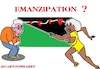 Cartoon: Emanzipation (small) by cartoonharry tagged emanzipation