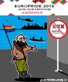Cartoon: EuroPride2016 (small) by cartoonharry tagged terrorism,warnings,amsterdam,gaypride,europride