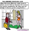 Cartoon: Excuses NSA (small) by cartoonharry tagged nsa,excuses