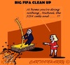 Cartoon: FIFA Cleaner (small) by cartoonharry tagged fifa,cleanup,michelvanpraag