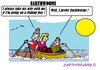 Cartoon: Fishing Day (small) by cartoonharry tagged earthworms,women,fishermen,boat,water