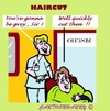 Cartoon: Hurry Up (small) by cartoonharry tagged hairdresser,haircut,grey,quick