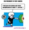 Cartoon: Janet Yellen (small) by cartoonharry tagged yellen,fed,sixpercent