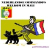 Cartoon: Mali (small) by cartoonharry tagged mali,zwartekat,nederland,commando,welkom