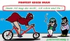 Cartoon: Moslima FahrradTour in Mailand (small) by cartoonharry tagged mslima,italien,mailand,fahrrad