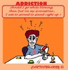 Cartoon: Negative (small) by cartoonharry tagged drugs,pills,alcohol,addiction,negative