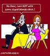 Cartoon: NO BLONDE (small) by cartoonharry tagged blonde,dinner,telephone,cartoons,cartoonists,cartoonharry,dutch,damn,toonpool