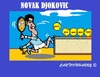 Cartoon: Novak Djokovic (small) by cartoonharry tagged australia,australianopen,tennis,winner,djokovic