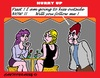 Cartoon: Outside Kissing (small) by cartoonharry tagged bar,kiss,outside