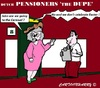 Cartoon: Pensioners (small) by cartoonharry tagged dupe,pensioners,holland,cartoon,cartoonharry,dutch,cartoonist,toonpool