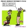 Cartoon: Police Berlin (small) by cartoonharry tagged germany,berlin,police,bicycles,helmets,check