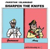 Cartoon: Sharpen the Knifes (small) by cartoonharry tagged pakistan,government,military,army,cartoon,cartoonist,cartoonharry,dutch,toonpool
