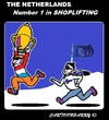 Cartoon: Shoplifting (small) by cartoonharry tagged europe,netherlands,champion,shoplifting