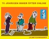 Cartoon: Siebzig Jährigen (small) by cartoonharry tagged siebzig,online