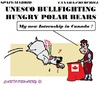 Cartoon: The Bull (small) by cartoonharry tagged polarbear,bullfight,unesco,heritage