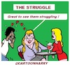 Cartoon: The Struggle (small) by cartoonharry tagged cartoonharry