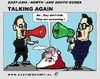 Cartoon: They Are Talking Or .... (small) by cartoonharry tagged korea,north,south,talks,cartoon,comic,comics,comix,artist,politics,art,arts,drawing,cartoonist,cartoonharry,dutch,toonpool,toonsup,facebook,hyves,linkedin,buurtlink,deviantart