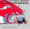 Cartoon: Wiki Leaks (small) by cartoonharry tagged wikileaks,world,usa,gulf,cartoon,comic,comix,cool,cooler,cooles,politics,art,arts,toonpool,toonsup,facebook,cartoonist,dutch,cartoonharry