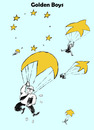 Cartoon: Another 9-11? (small) by Zombi tagged europe,europa,golden,boys,parachute