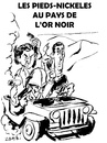 Cartoon: Pieds Nickeles en Libye (small) by Zombi tagged libye,sarkozy,guaino,bhl,or,noir,world,government