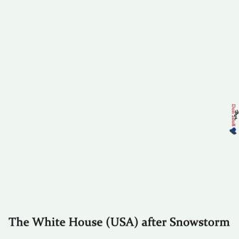 Cartoon: The White house after Snowstorm (medium) by Vanessa tagged white,house,politik