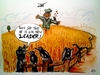 Cartoon: New Leader (small) by joschoo tagged dictatorship,tolerance,crow,raven,cornfield