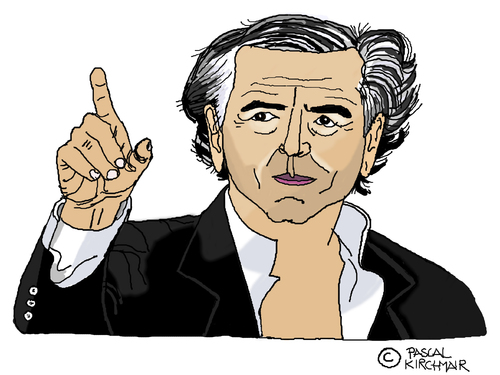 Image result for bernard henri levy caricature